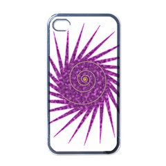 Spiral Purple Star Polka Apple Iphone 4 Case (black) by Mariart