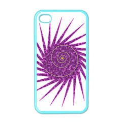 Spiral Purple Star Polka Apple Iphone 4 Case (color) by Mariart