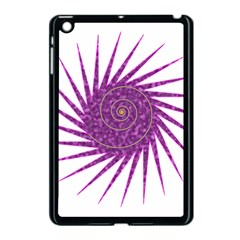 Spiral Purple Star Polka Apple Ipad Mini Case (black) by Mariart