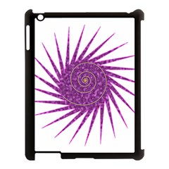 Spiral Purple Star Polka Apple Ipad 3/4 Case (black) by Mariart