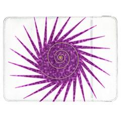 Spiral Purple Star Polka Samsung Galaxy Tab 7  P1000 Flip Case