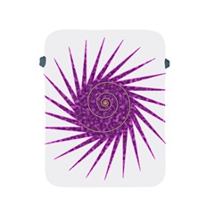 Spiral Purple Star Polka Apple Ipad 2/3/4 Protective Soft Cases by Mariart
