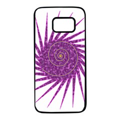 Spiral Purple Star Polka Samsung Galaxy S7 Black Seamless Case by Mariart