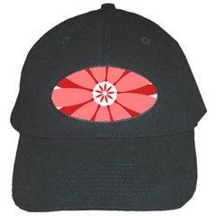 Sunflower Flower Floral Red Black Cap by Mariart