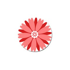 Sunflower Flower Floral Red Golf Ball Marker by Mariart