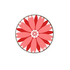 Sunflower Flower Floral Red Hat Clip Ball Marker (4 Pack) by Mariart