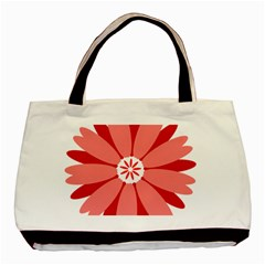 Sunflower Flower Floral Red Basic Tote Bag by Mariart