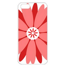 Sunflower Flower Floral Red Apple Iphone 5 Seamless Case (white) by Mariart