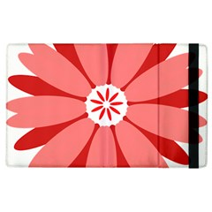 Sunflower Flower Floral Red Apple Ipad 3/4 Flip Case by Mariart