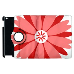 Sunflower Flower Floral Red Apple Ipad 2 Flip 360 Case by Mariart
