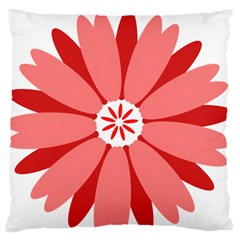 Sunflower Flower Floral Red Standard Flano Cushion Case (two Sides) by Mariart