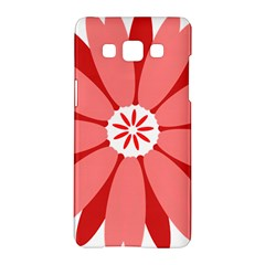 Sunflower Flower Floral Red Samsung Galaxy A5 Hardshell Case  by Mariart