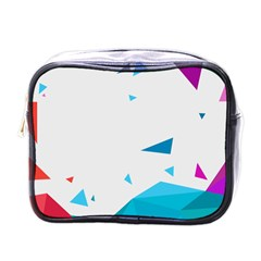 Triangle Chevron Colorfull Mini Toiletries Bags by Mariart