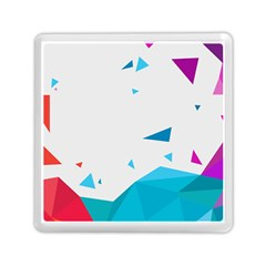 Triangle Chevron Colorfull Memory Card Reader (square)  by Mariart