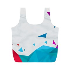 Triangle Chevron Colorfull Full Print Recycle Bags (m)  by Mariart