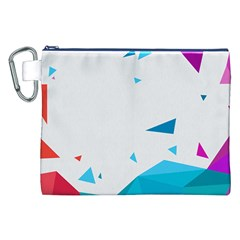 Triangle Chevron Colorfull Canvas Cosmetic Bag (xxl) by Mariart