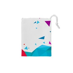 Triangle Chevron Colorfull Drawstring Pouches (xs)  by Mariart