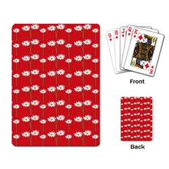 Sunflower Red Star Beauty Flower Floral Playing Card by Mariart