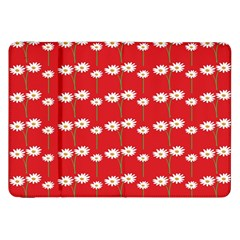 Sunflower Red Star Beauty Flower Floral Samsung Galaxy Tab 8 9  P7300 Flip Case by Mariart