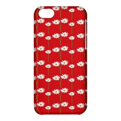 Sunflower Red Star Beauty Flower Floral Apple Iphone 5c Hardshell Case by Mariart