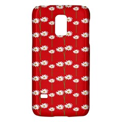 Sunflower Red Star Beauty Flower Floral Galaxy S5 Mini by Mariart