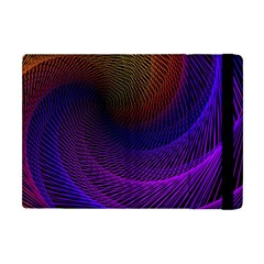 Striped Abstract Wave Background Structural Colorful Texture Line Light Wave Waves Chevron Apple Ipad Mini Flip Case by Mariart
