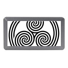 Triple Spiral Triskelion Black Memory Card Reader (mini) by Mariart