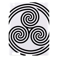 Triple Spiral Triskelion Black Apple Ipad 3/4 Hardshell Case