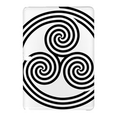 Triple Spiral Triskelion Black Samsung Galaxy Tab Pro 12 2 Hardshell Case by Mariart