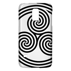 Triple Spiral Triskelion Black Galaxy S5 Mini by Mariart