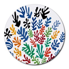 The Wreath Matisse Beauty Rainbow Color Sea Beach Round Mousepads by Mariart