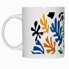 The Wreath Matisse Beauty Rainbow Color Sea Beach White Mugs by Mariart