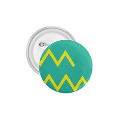 Waves Chevron Wave Green Yellow Sign 1 75  Buttons by Mariart