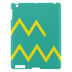 Waves Chevron Wave Green Yellow Sign Apple Ipad 3/4 Hardshell Case by Mariart