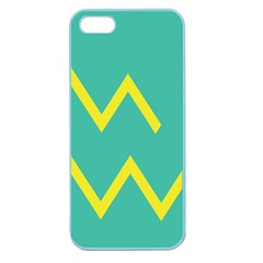 Waves Chevron Wave Green Yellow Sign Apple Seamless Iphone 5 Case (color)