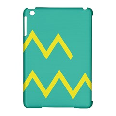 Waves Chevron Wave Green Yellow Sign Apple Ipad Mini Hardshell Case (compatible With Smart Cover) by Mariart
