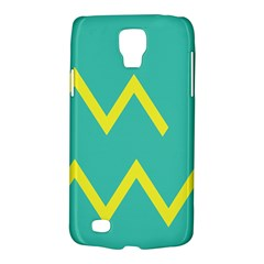 Waves Chevron Wave Green Yellow Sign Galaxy S4 Active by Mariart