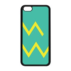 Waves Chevron Wave Green Yellow Sign Apple Iphone 5c Seamless Case (black) by Mariart