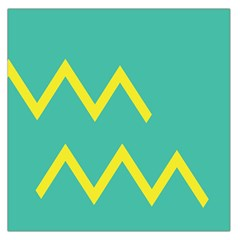 Waves Chevron Wave Green Yellow Sign Large Satin Scarf (square) by Mariart
