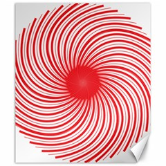 Spiral Red Polka Star Canvas 20  X 24   by Mariart