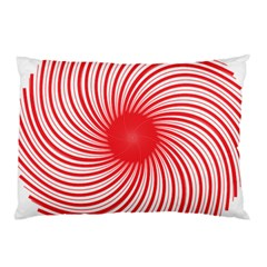 Spiral Red Polka Star Pillow Case by Mariart