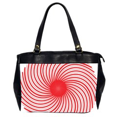 Spiral Red Polka Star Office Handbags (2 Sides)  by Mariart