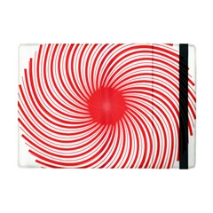 Spiral Red Polka Star Apple Ipad Mini Flip Case by Mariart