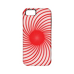 Spiral Red Polka Star Apple Iphone 5 Classic Hardshell Case (pc+silicone) by Mariart