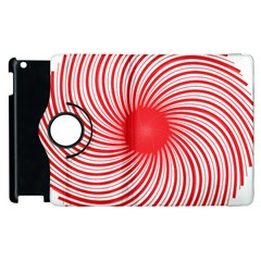 Spiral Red Polka Star Apple Ipad 3/4 Flip 360 Case by Mariart