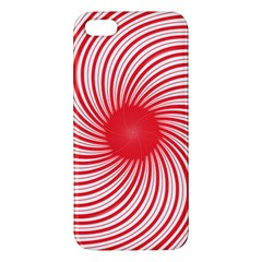 Spiral Red Polka Star Apple Iphone 5 Premium Hardshell Case by Mariart