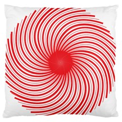 Spiral Red Polka Star Standard Flano Cushion Case (one Side) by Mariart