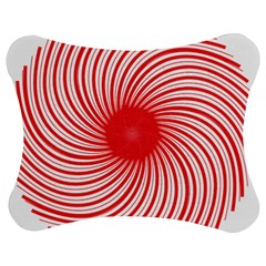 Spiral Red Polka Star Jigsaw Puzzle Photo Stand (bow) by Mariart