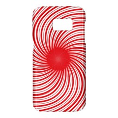 Spiral Red Polka Star Samsung Galaxy S7 Hardshell Case  by Mariart