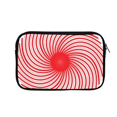 Spiral Red Polka Star Apple Macbook Pro 13  Zipper Case by Mariart